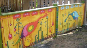 Copy Break #2.  A fence too...!  Check it out on Gillespie Street.